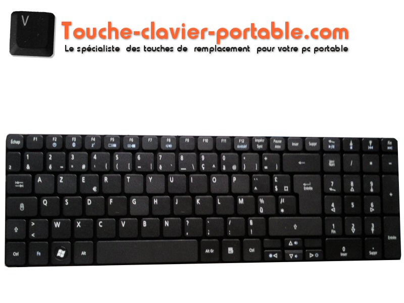 clavier pour ordinateur portable acer aspire 5738zg. Black Bedroom Furniture Sets. Home Design Ideas