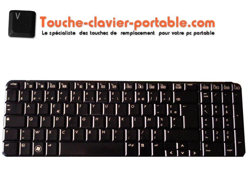 Touche Clavier hp pavilion dv7 noir brillant Touche